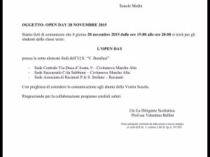 Open day I.I.S. Bonifazi