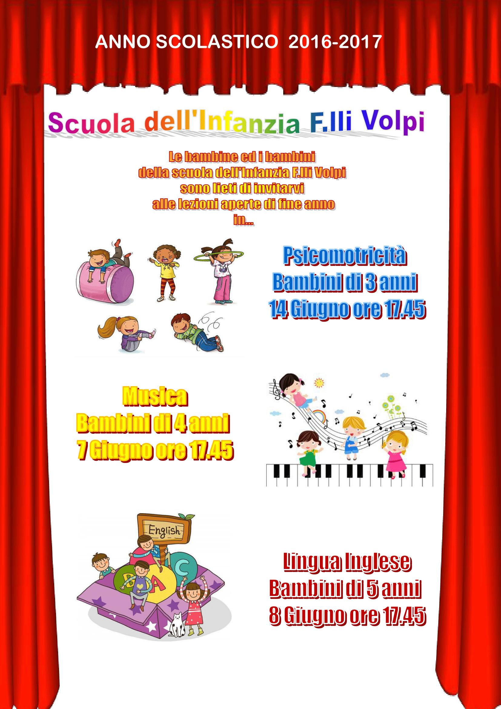 Calendario Bambini Scuola Infanzia.Ic Solari Scuola Dell Infanzia F Lli Volpi Calendario